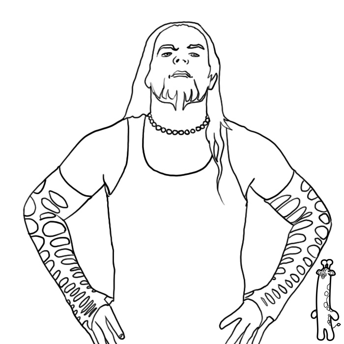 jeff hardy coloring pages free - photo#2