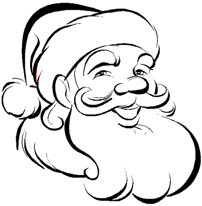 free black and white santa clipart - photo #32