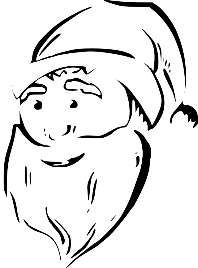 Reindeer Face Line Drawing : Santa claus face coloring pages home