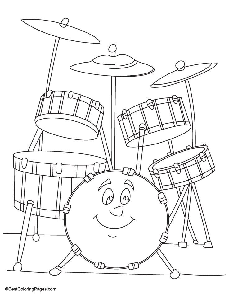 Drum coloring page coloring home for Drum coloring pages to print