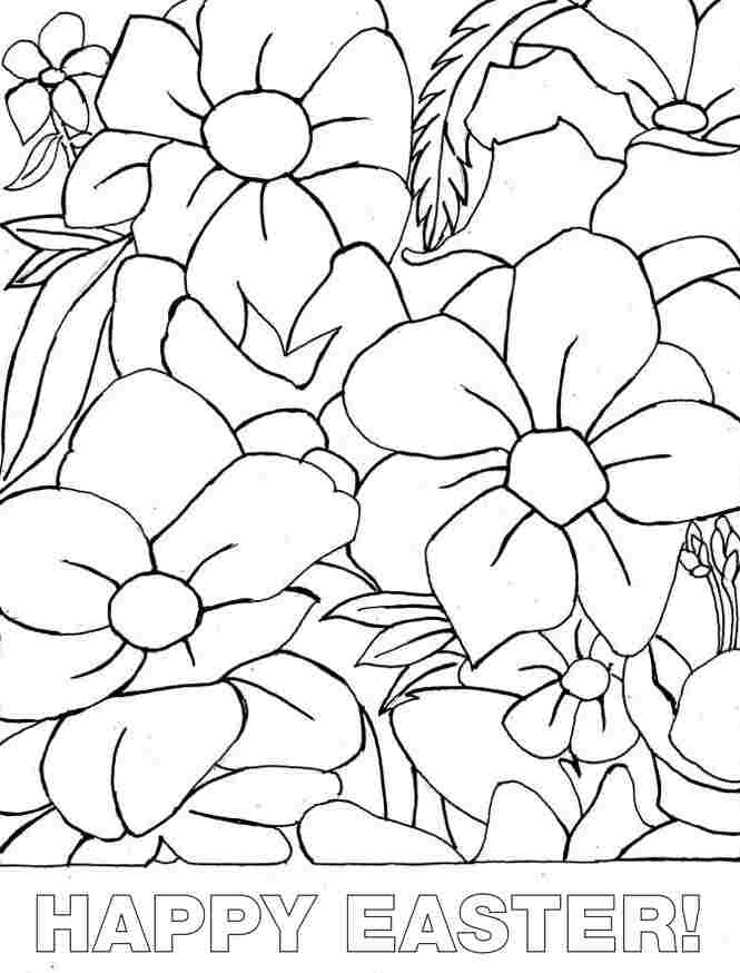Printable Free Colouring Sheets Easter Flowers For Kindergarten 16818