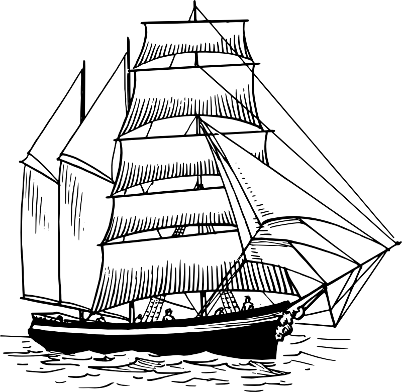Ship Outline Coloring Home