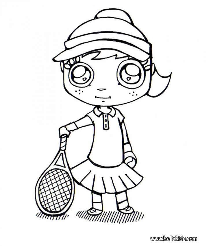 TENNIS Coloring Pages - Tennis Player Ready To Play - Coloring Home