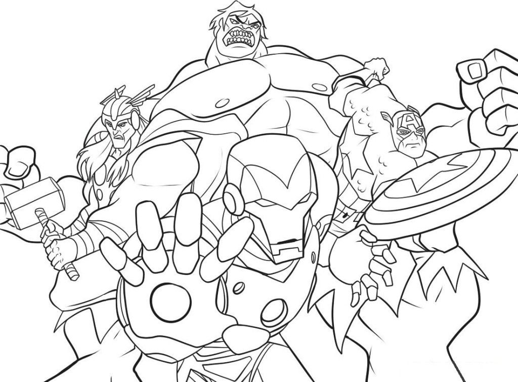 Avengers Printable Coloring Pages Coloring Home