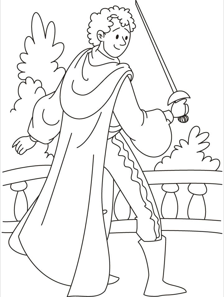 printable medieval dinner coloring pages - photo#19
