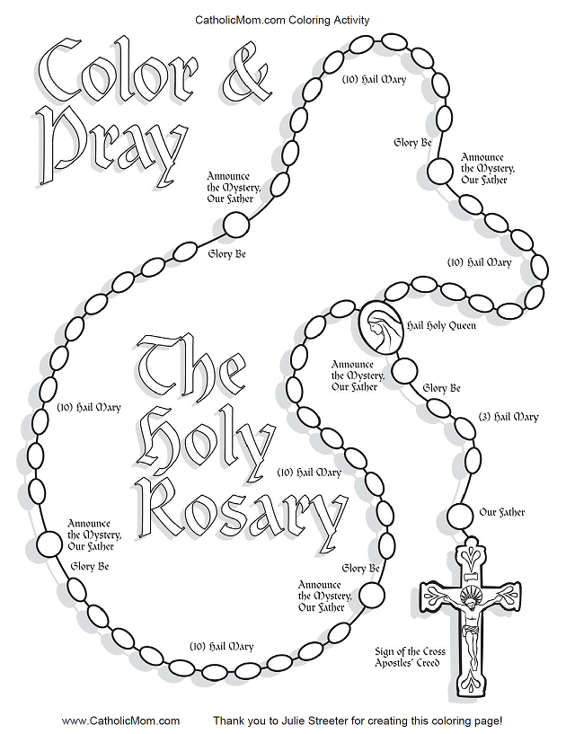 graphic relating to Rosary Printable named Rosary Coloring Site Printable - Coloring Dwelling