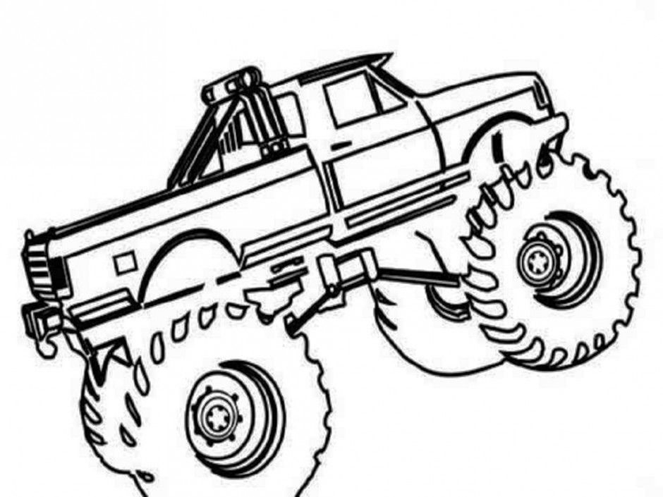 Printable Monster Truck Coloring Pages Coloring Book Area Best