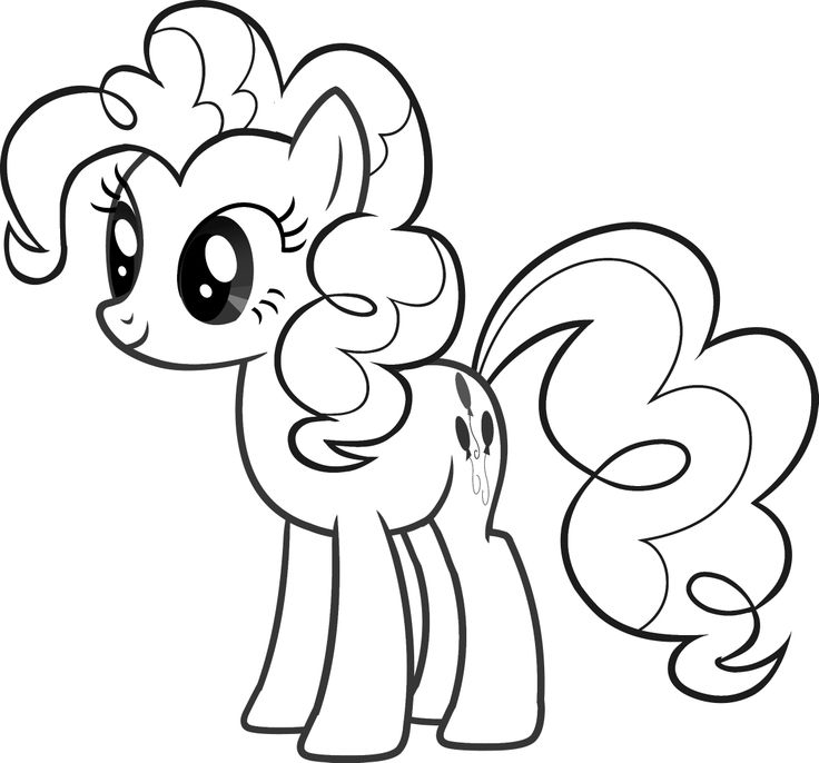printable pinkie pie coloring pages - photo#1