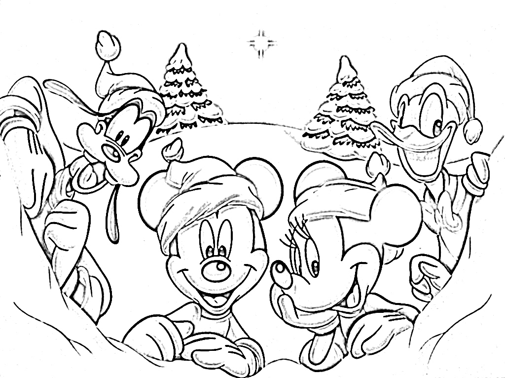 cartoon characters christmas coloring pages - photo#20