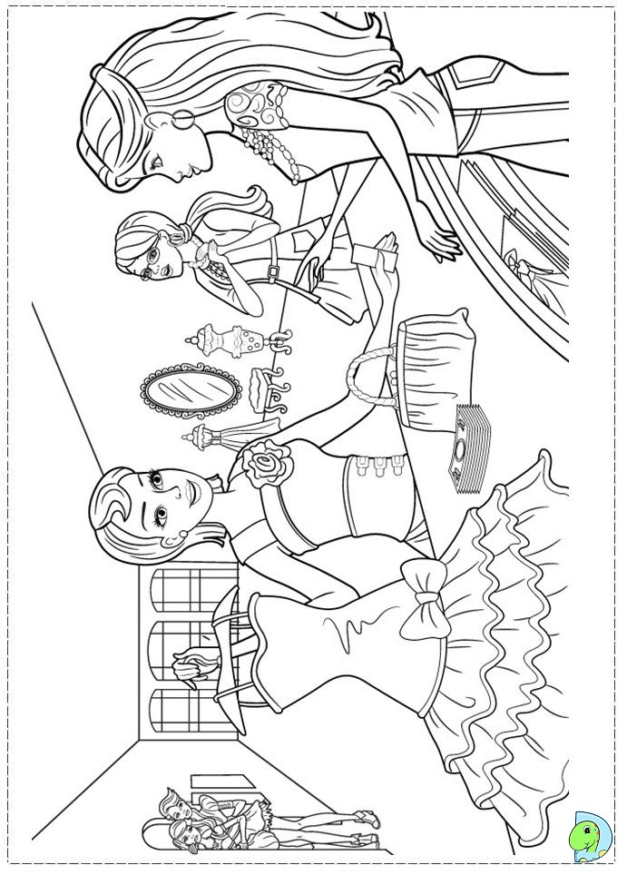 Coloring Pages Of Barbie A Fashion Fairytale
