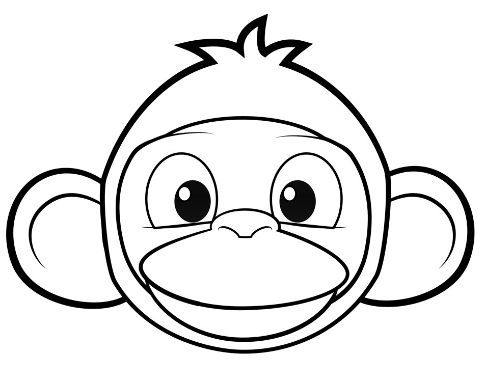 cartoon monkeys coloring pages - photo#24