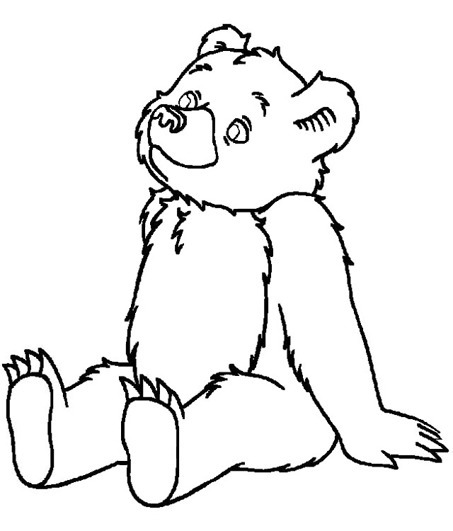 coloring pages bear hibernating - photo#14