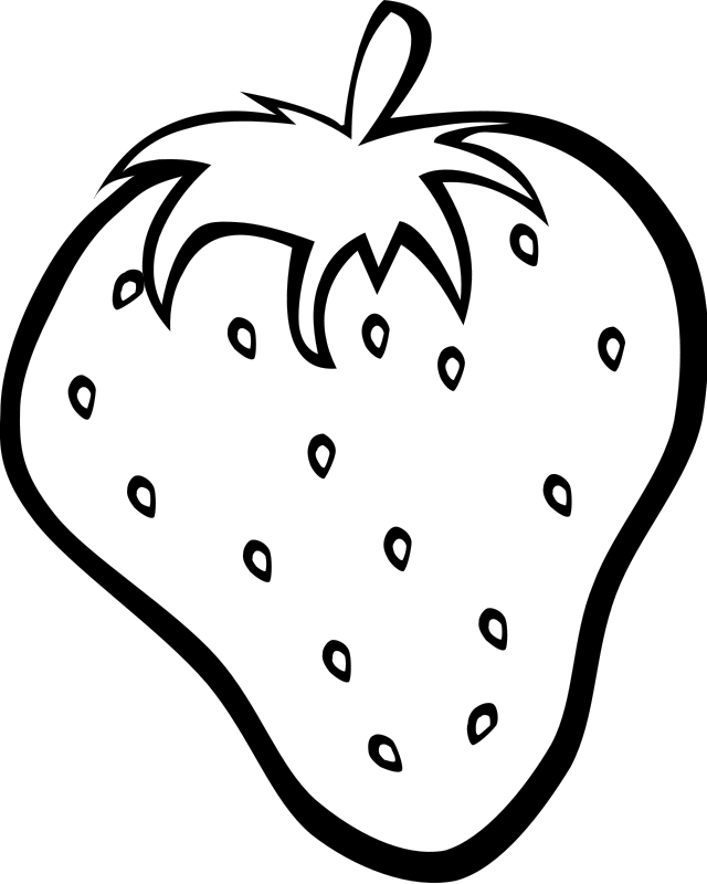 simple fruit coloring pages - photo #16