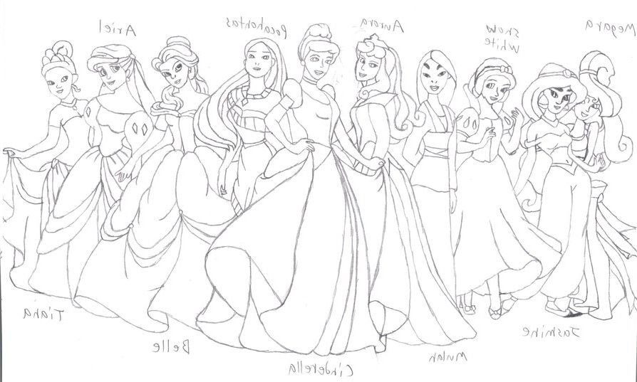 Disney Princess Coloring Pages To Print - Free Coloring Pages For - Coloring  Home