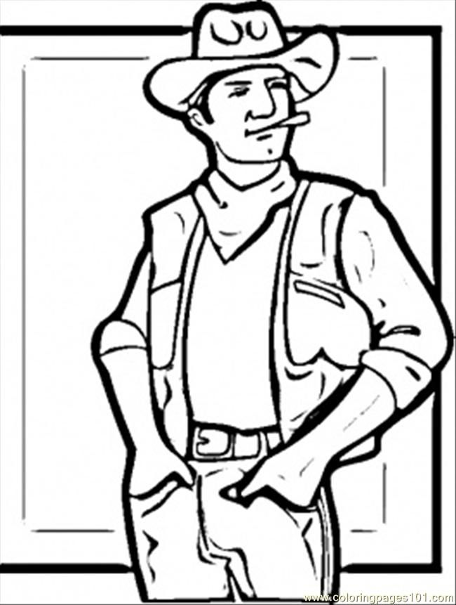 western coloring book pages - photo#24