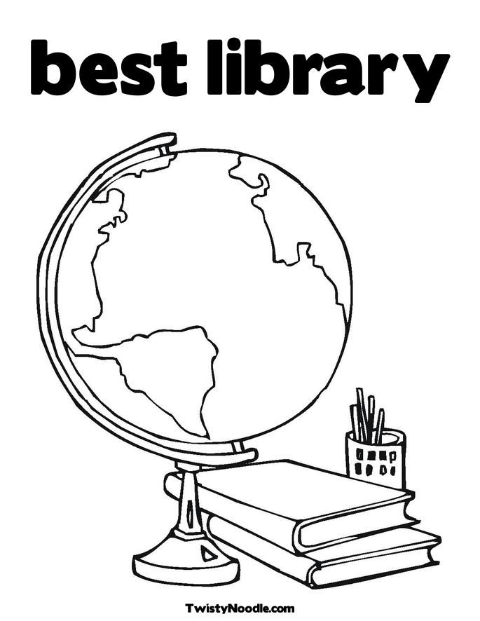 coloring pages of library books - photo#26