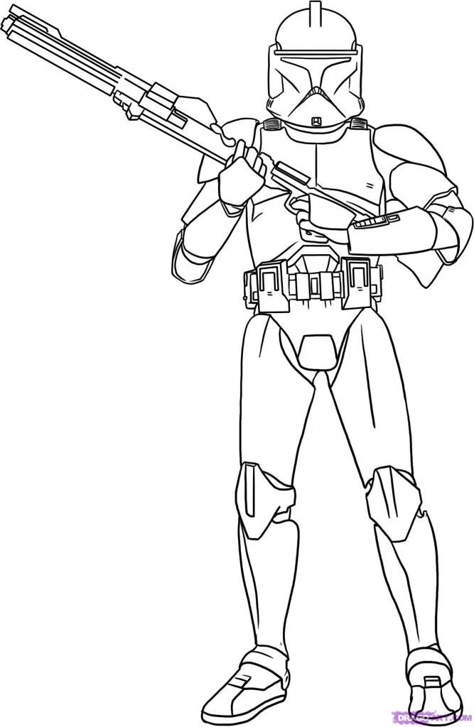 Star Wars Clone Trooper Coloring Pages Coloring Home Clone Trooper Coloring Page