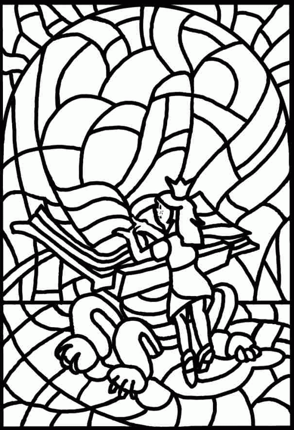 Stained-glass Colouring Pages