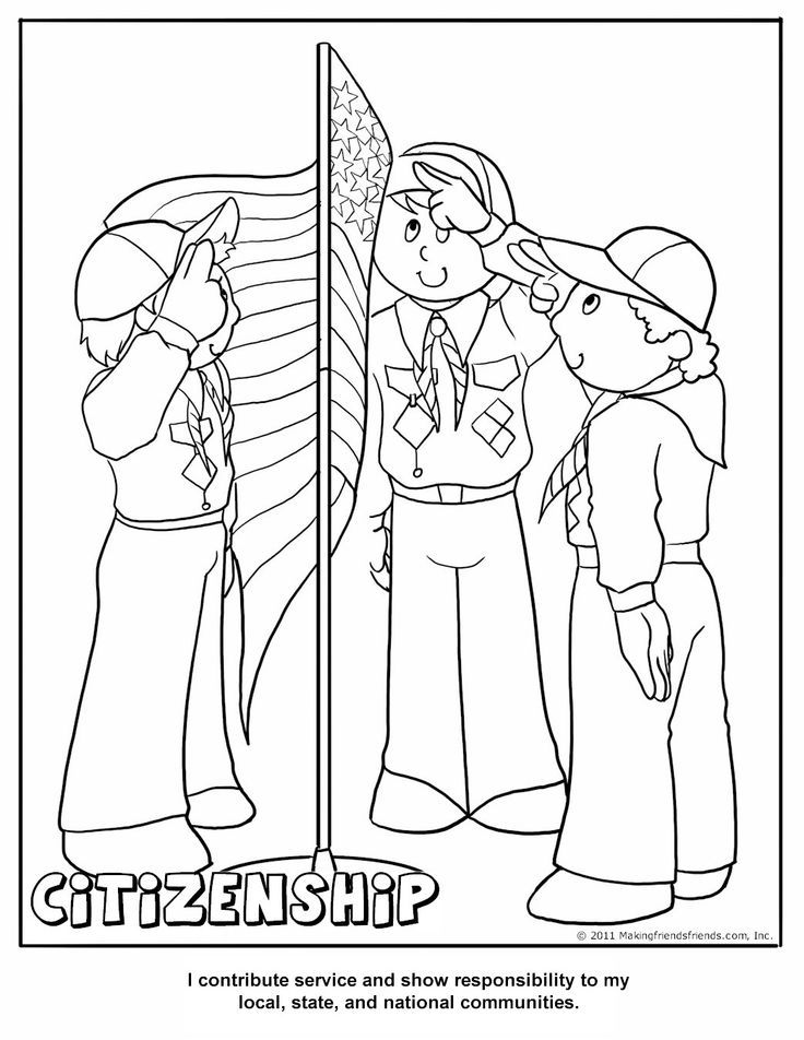 Cub Scout Coloring Pages - Coloring Home