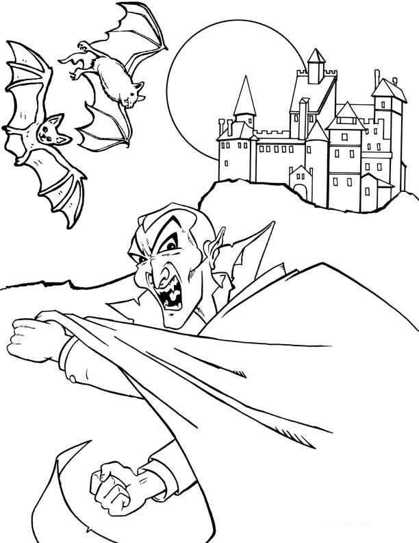 Vampire Bat Coloring Pages AZ