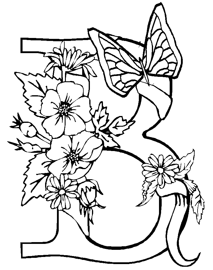 b coloring pages - photo #45