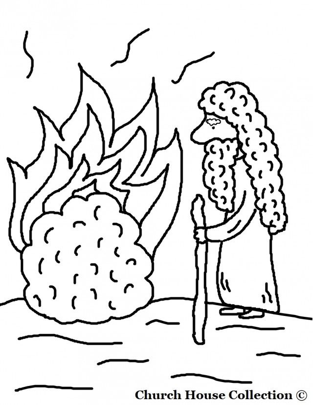 Moses And The Burning Bush Coloring Pages Coloring Online 294450