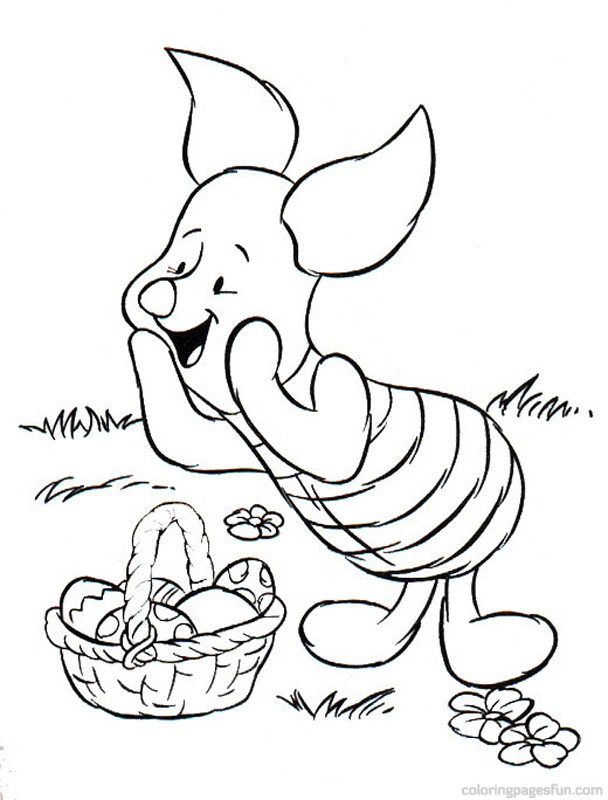 Easter Coloring Pages Disney Characters : Easter disney character coloring pages free printable