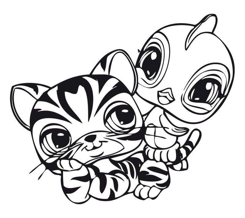 Series Littlest Pet Shop print coloring pages. 18