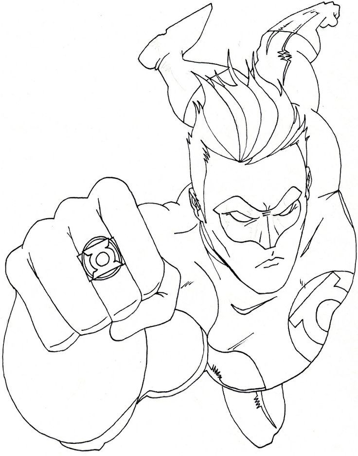 dc heroes free coloring pages - photo#6