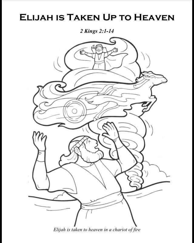 Elijah chariot of fire coloring page coloring home for Elisha coloring pages