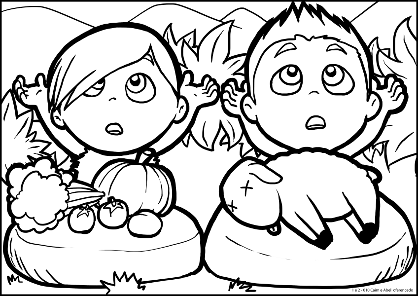 Cain And Abel Coloring Pages Cain And Abel Bible Printables Coloring Home
