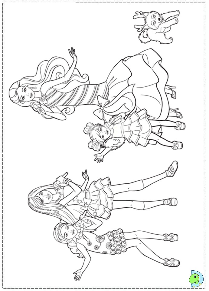 Barbie Christmas Coloring Pages - AZ Coloring Pages