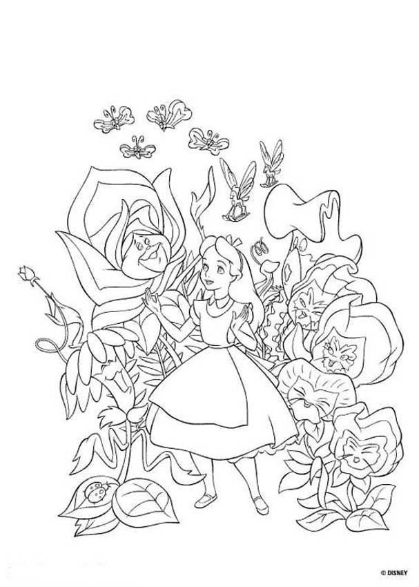 Alice wonderland coloring pages az coloring pages for Alice and wonderland coloring pages