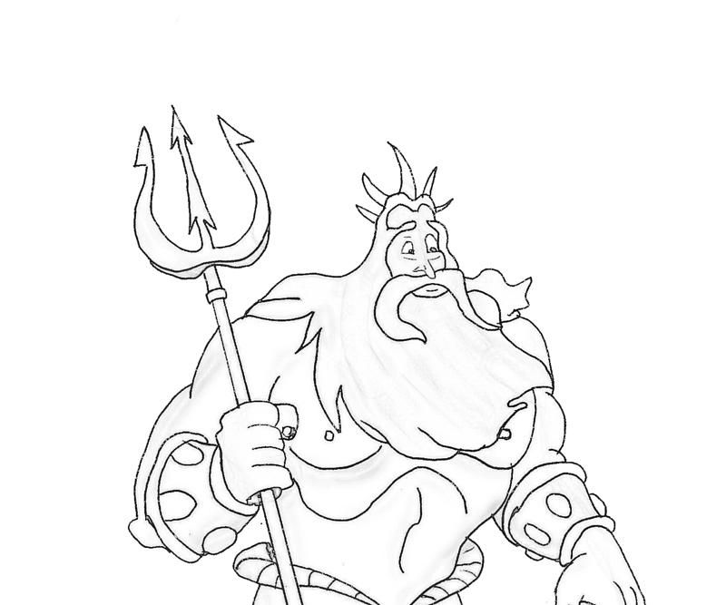 King Triton Coloring Page Coloring