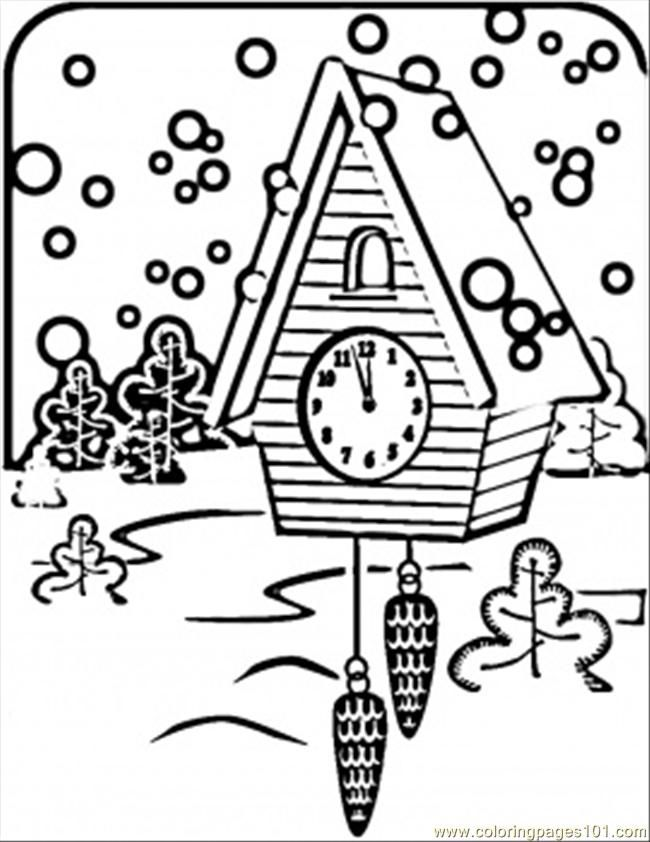 Coloring Pages Russian Clock (Countries > Russia) - free printable