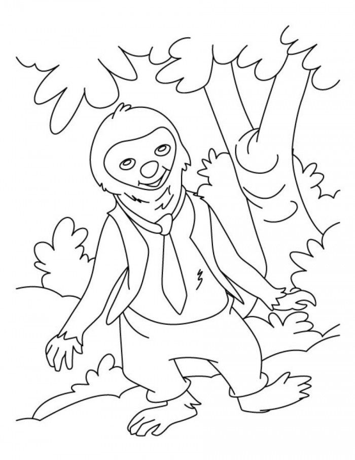 Sloth Coloring Page Coloring