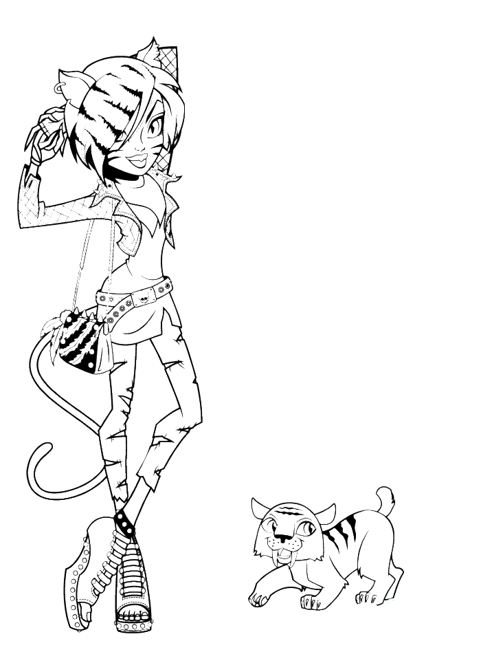 Monster High Coloring Pages Coloring