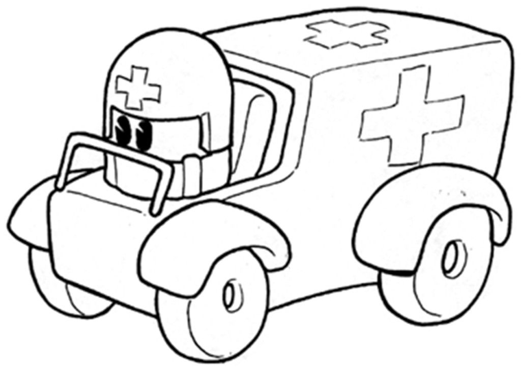 coloring pages ambulance - photo#21