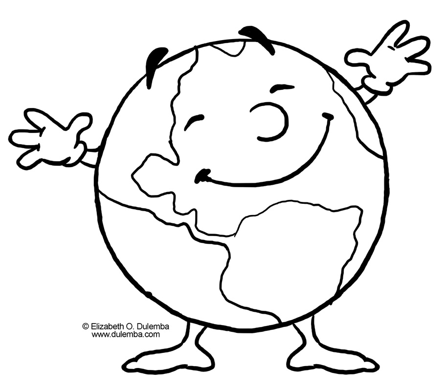 Earth color pages az coloring pages for Coloring page earth