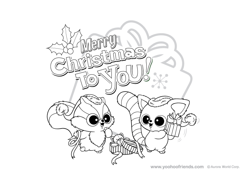 yoohoo friends christmas Colouring Pages
