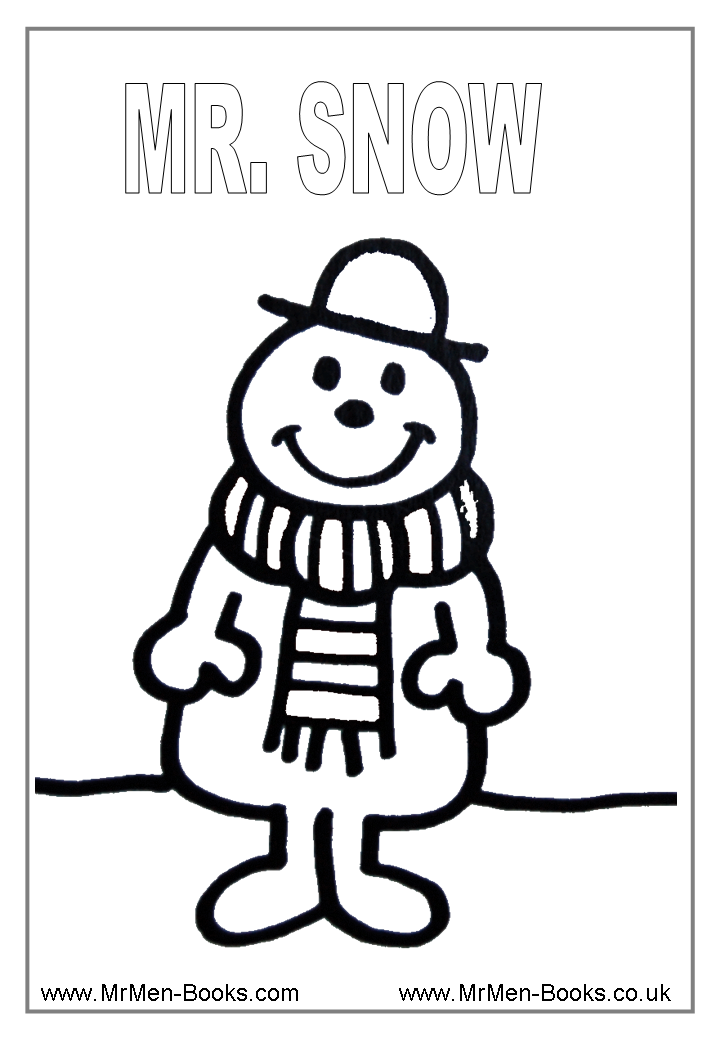 Mr Men Coloring Pages Coloring Home