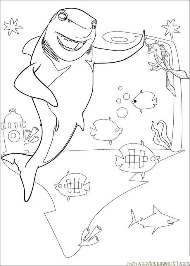shark tale coloring book pages - photo#16