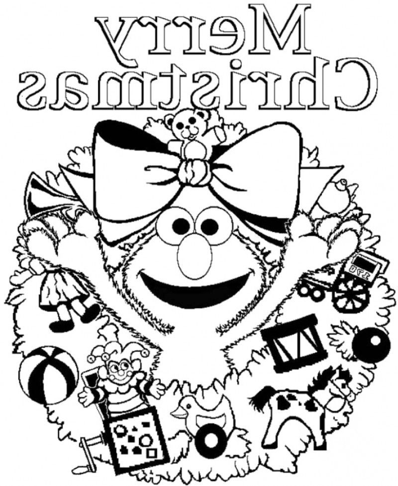 elmo coloring pages christmas - elmo coloring book pages coloring home