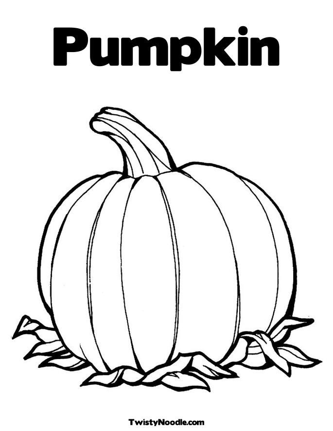 coloring page pumpkin printable
