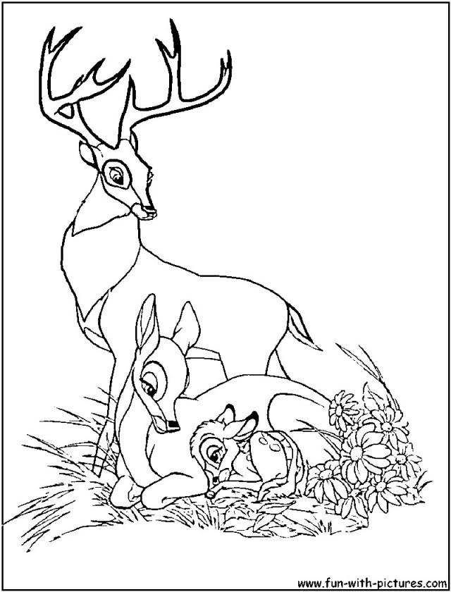 bambi coloring pages for kids az coloring pages Bambi and Faline Coloring Pages  Bambi Coloring Pages Disney