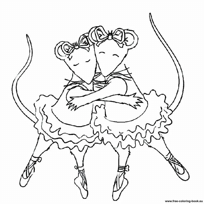 angelina ballerina coloring page az coloring pages