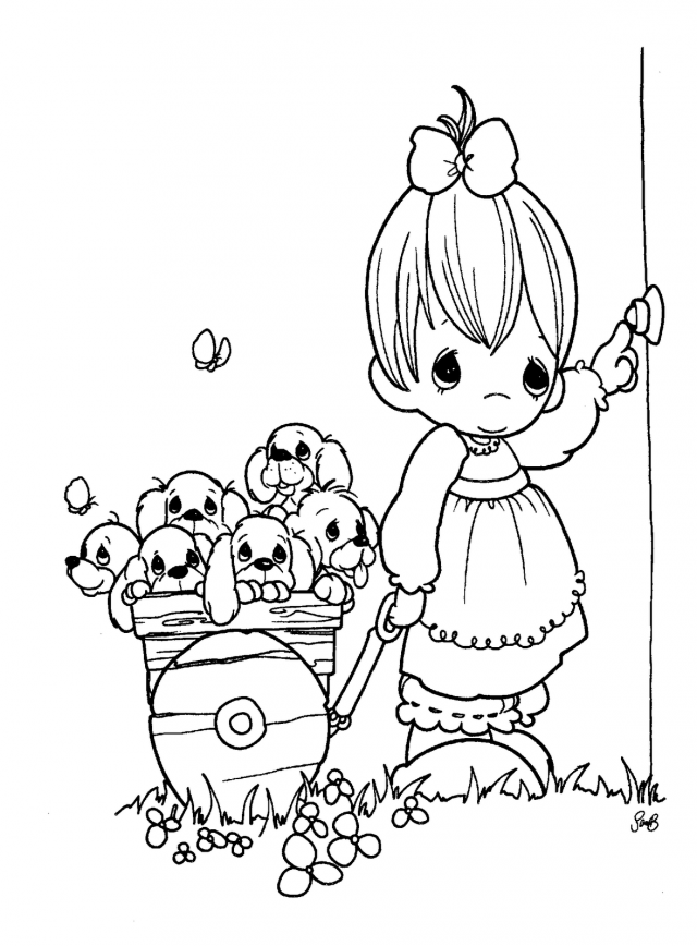precious moments valentine coloring pages - photo#12