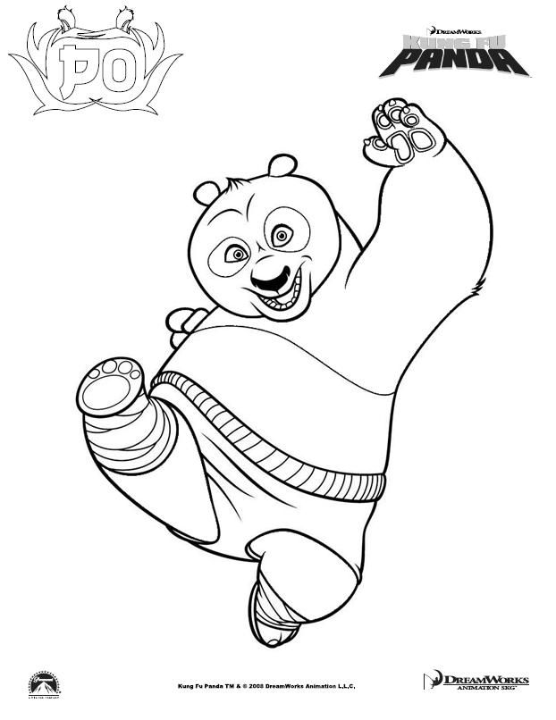 coloring pictures: Kung fu panda coloring pictures | 806x622