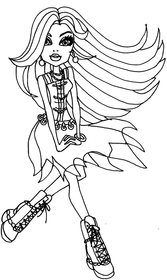 Free coloring pages of draculaura monster high for Draculaura coloring page
