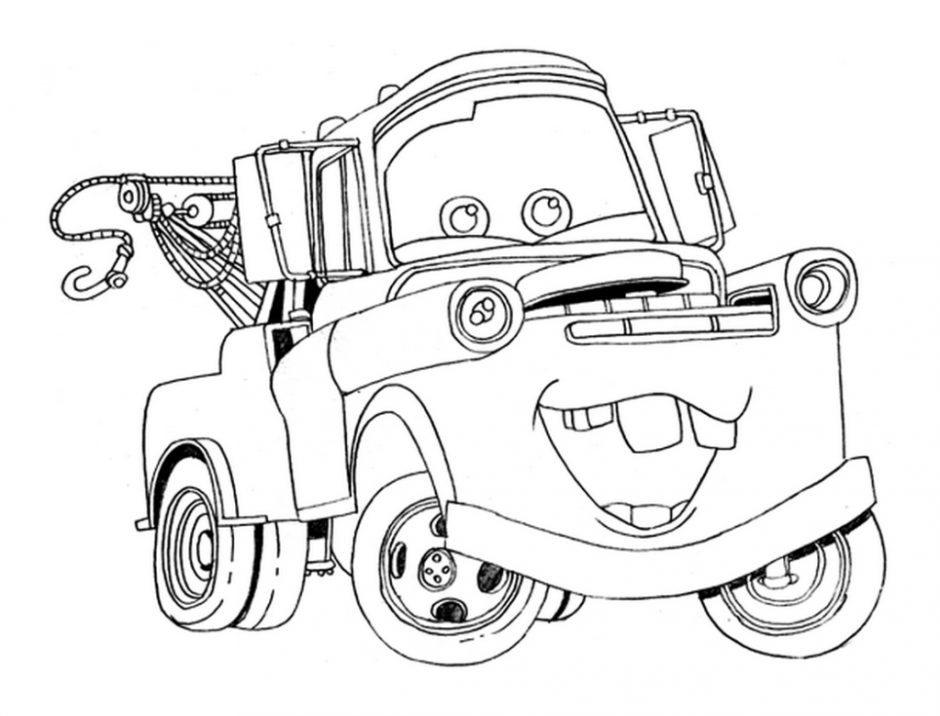Free Printable Disney Cars Tow Mater Coloring Pages Free 202291 - AZ ...